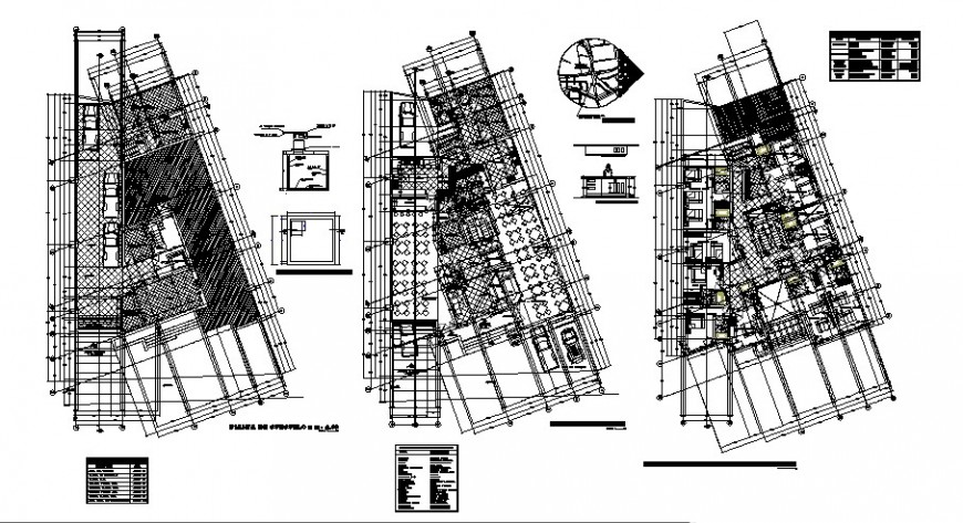Dynamic multi-story hotel building floor plan layout cad drawing details dwg file