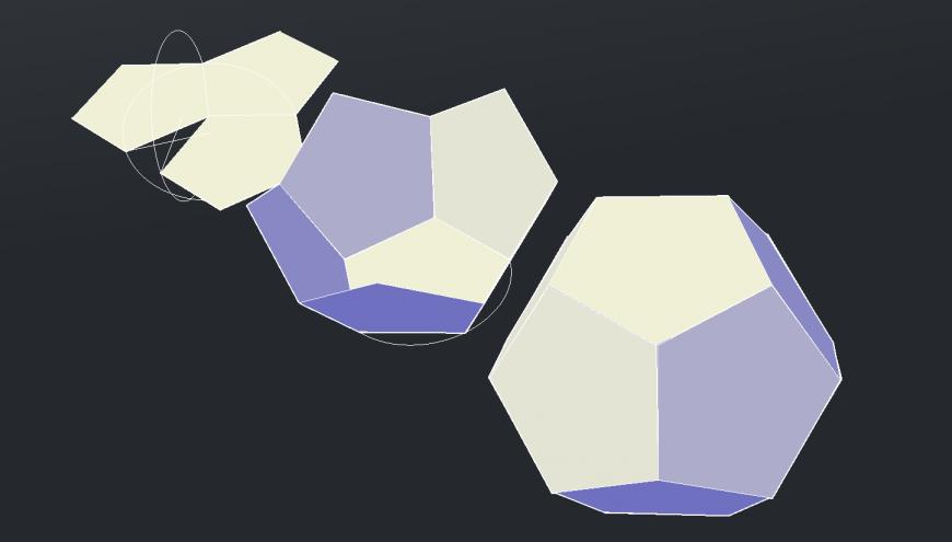 Dynamic multiple 3d geometric symbols cad drawing details dwg file