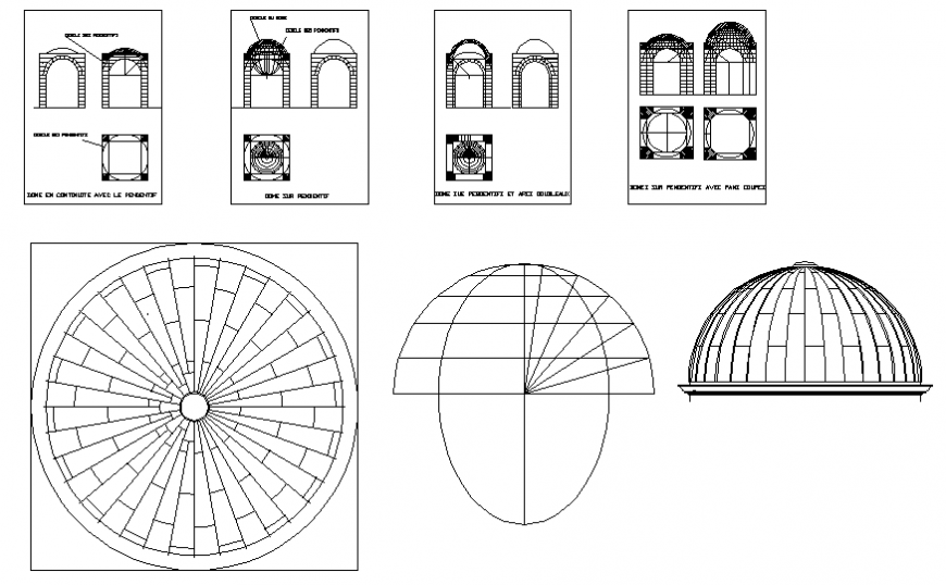 Dynamic pillars, arches and domes blocks drawing dwg file