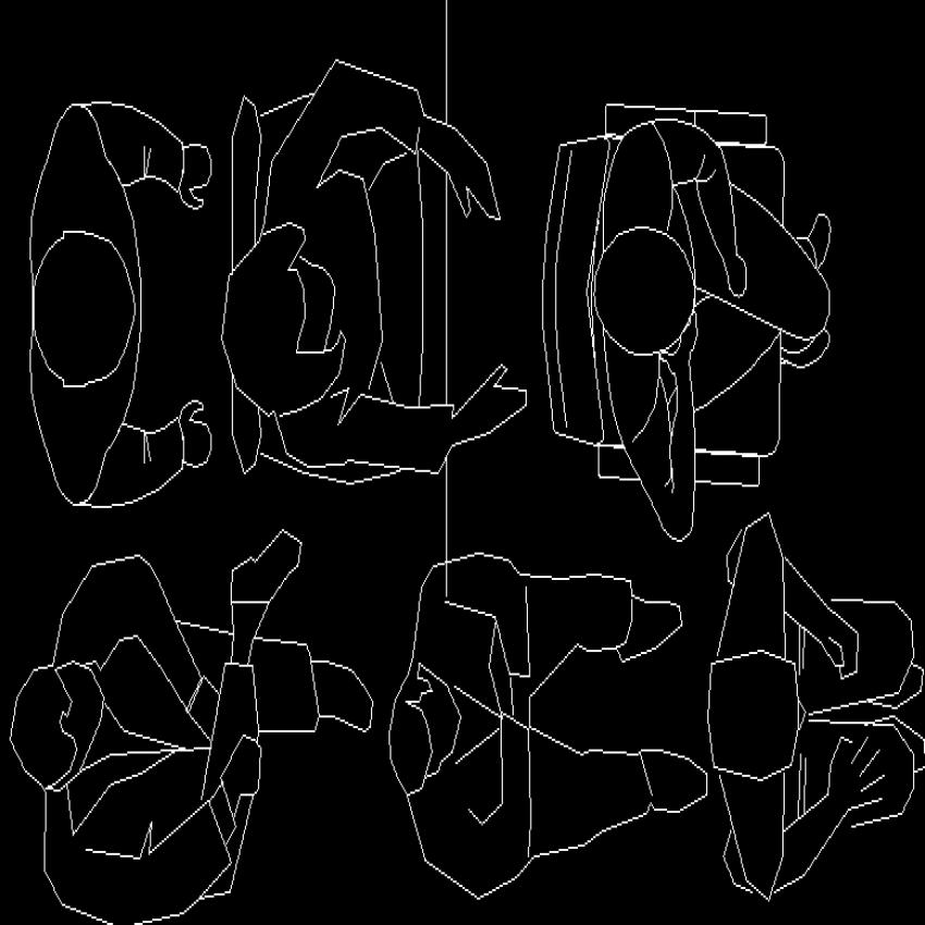 Dynamic seating people act block designs dwg file