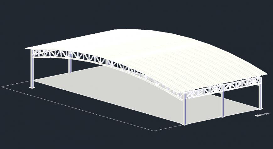Dynamic shelter 3d model cad drawing details dwg file