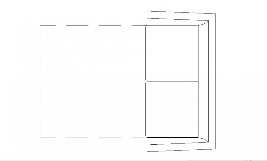 Dynamic two seated sofa set 2d elevation block details dwg file