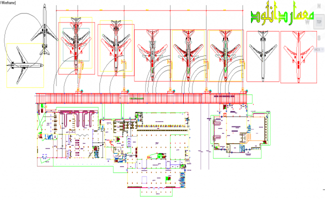 Airport design autocad DWG file