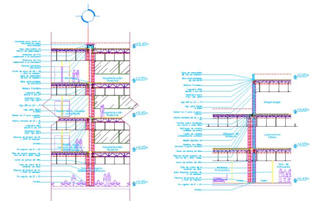 Hospital elevation detail