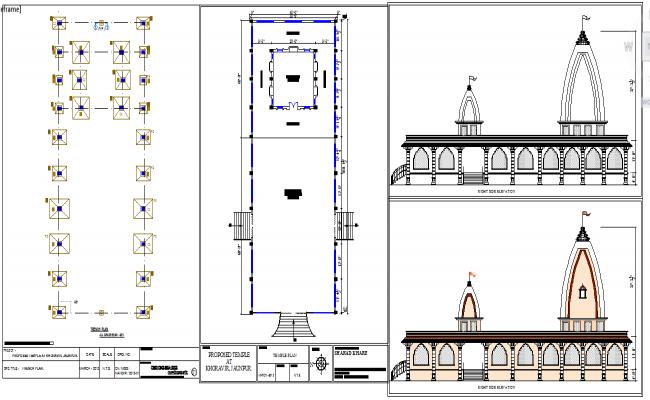 Temple Plan Detail