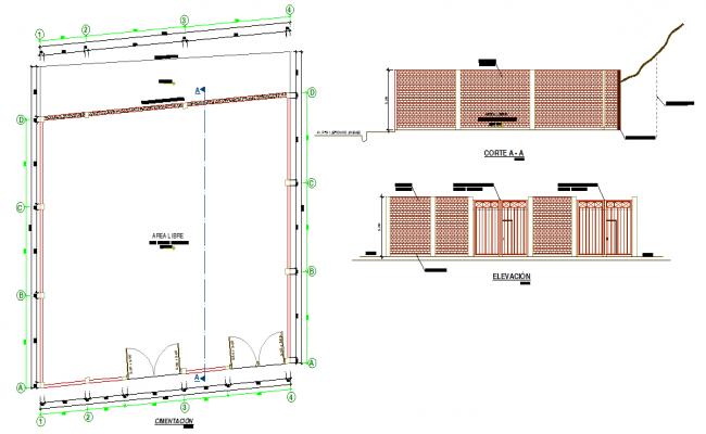 Main Gate Elevation Detail