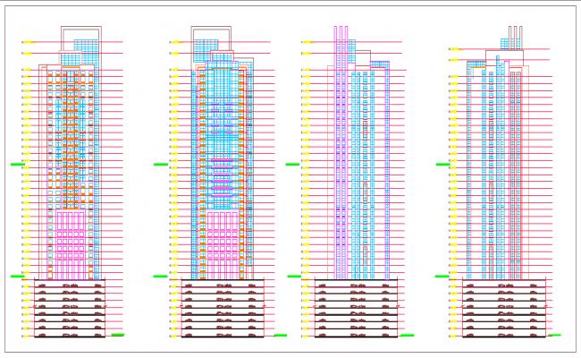 High rise Building plan