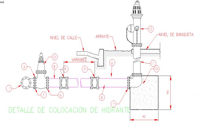 Hydrant installation Design