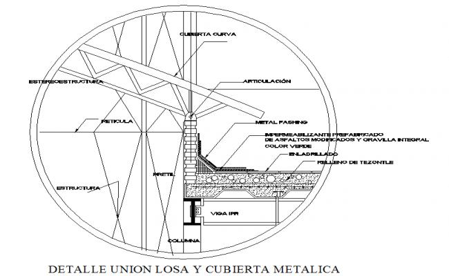 Metallic Roof Detail