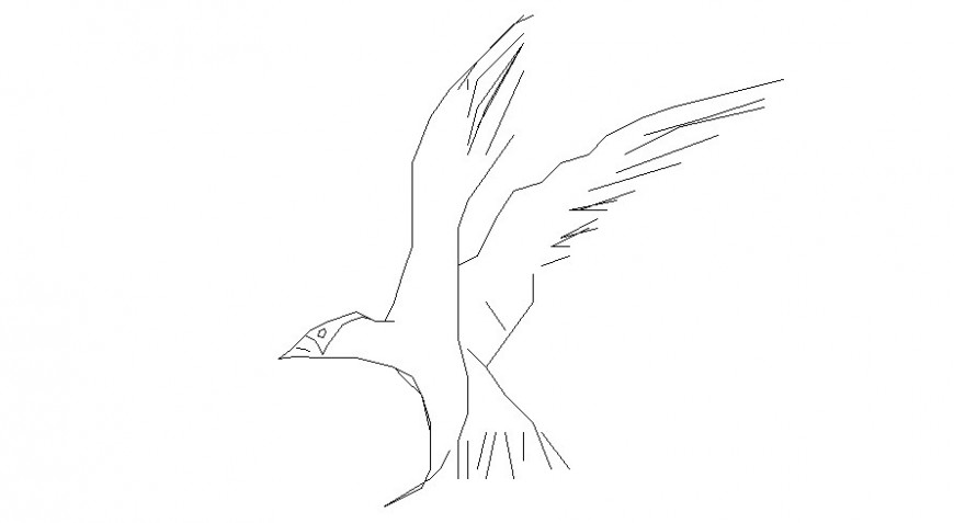 Eagle drawings 2d view autocad file