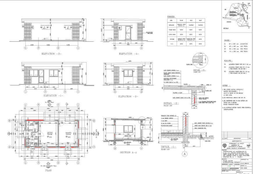 Earth gard house drawing in dwg file.