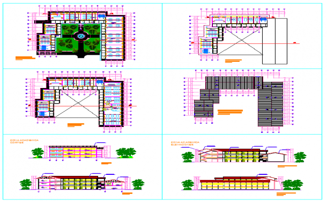 School DWG, School plan DWG