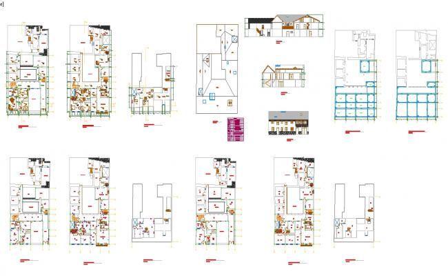 Colonial House plan detail