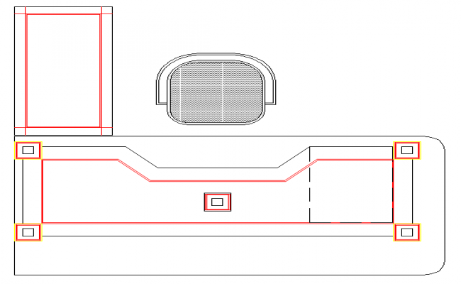 office working table lay-out design