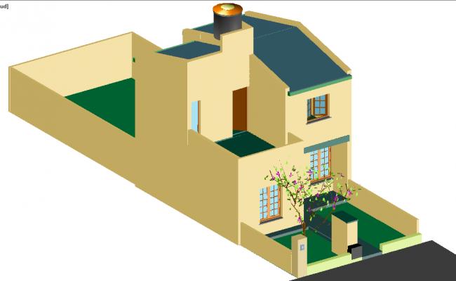 Duplex 3D House