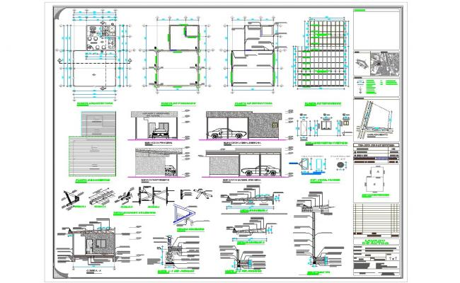 Car service station design and detail in autocad dwg files for Cad car plan