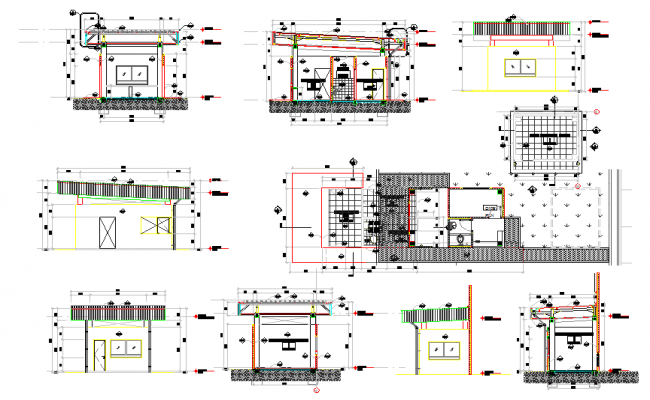 Guard House Design Plan, Security Guard House Design