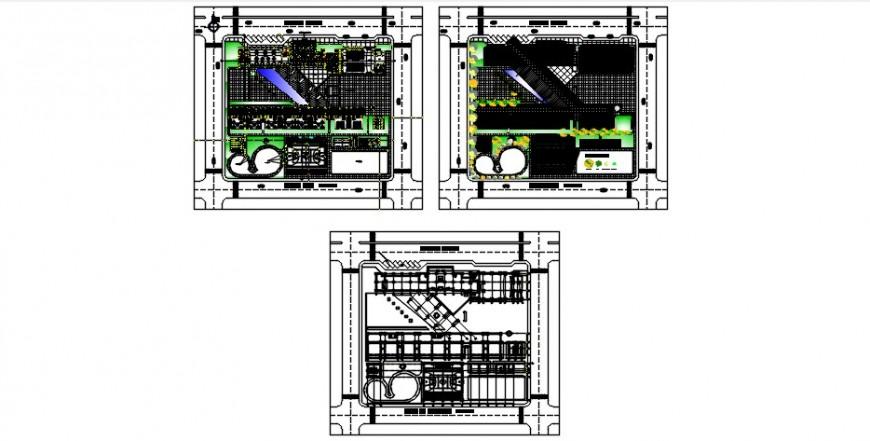Education building floor plan distribution drawing details dwg file