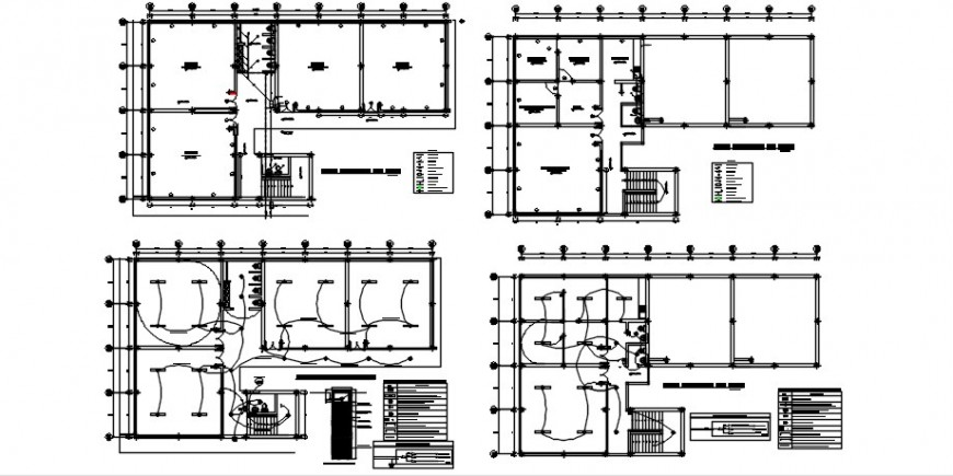 Educational institute building units drawings with electrical installation dwg file