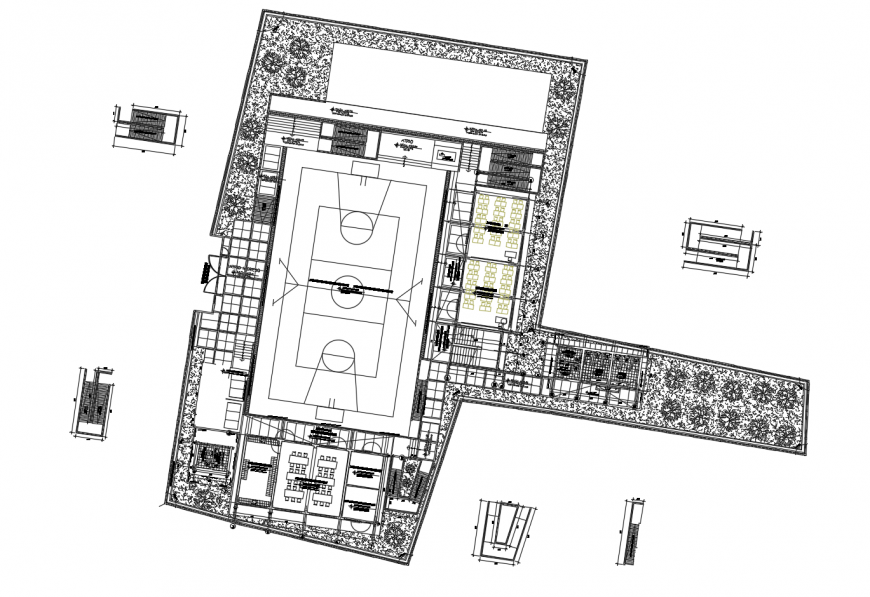 Educational institute general layout plan cad drawing details dwg file