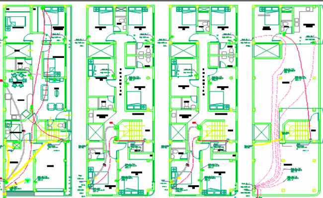 electric installation system dwg file