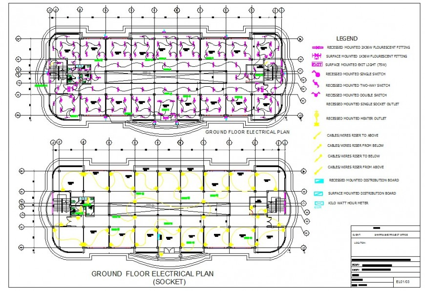 Electric layout top view layout plan dwg file