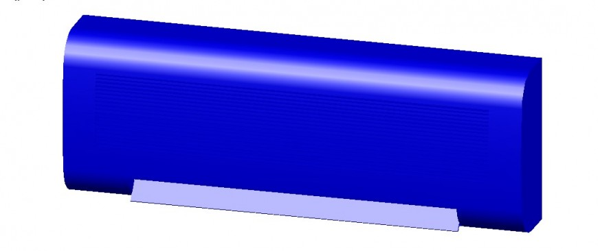 Electrical 3d component of split AC in AutoCAD file