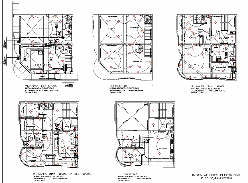 Electrical Bolivar hotel plan layout file