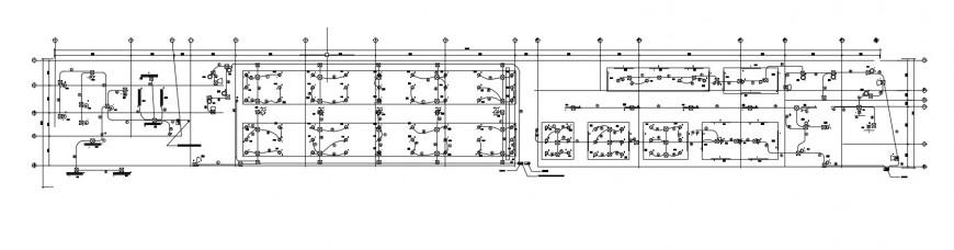 Electrical circuits flow diagram 2d view dwg autocad file