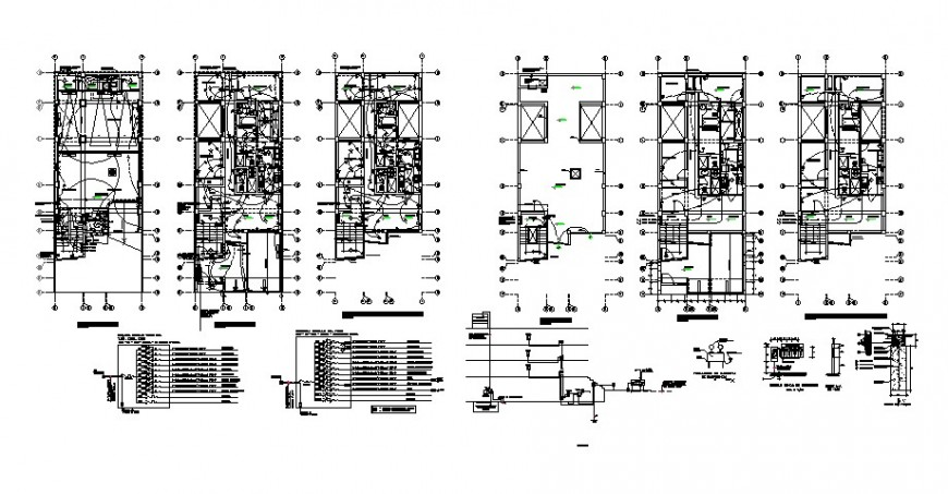 Electrical fitting details in the building blocks 2d view autocad file