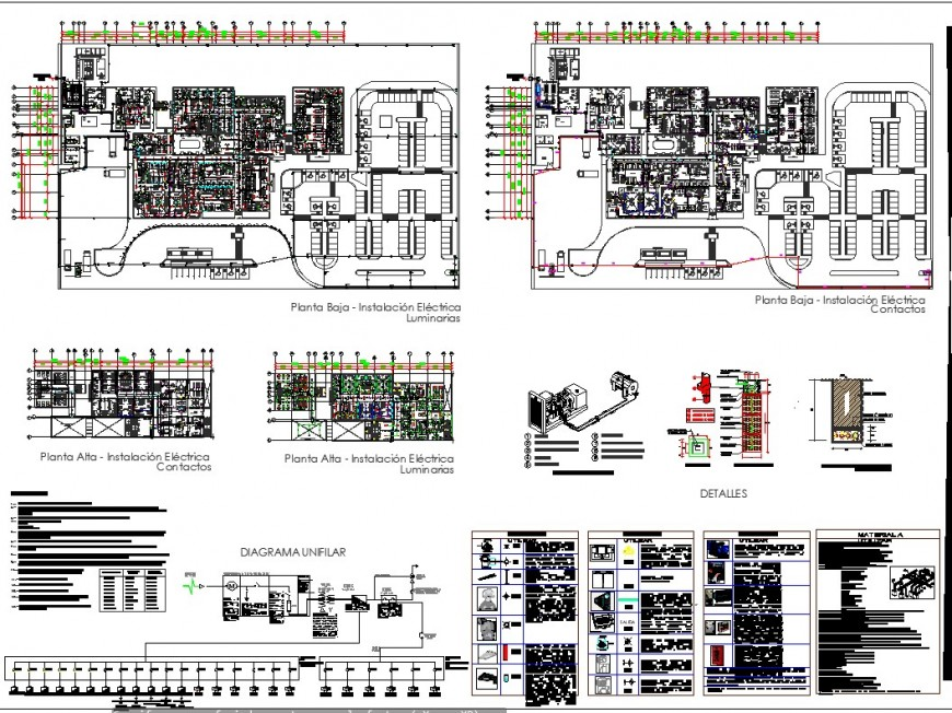 Electrical house planning autocad file