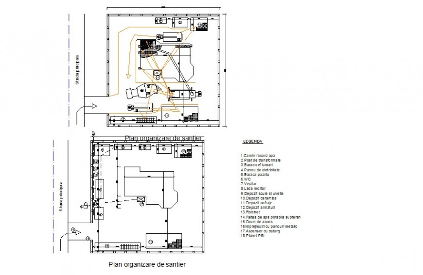Electrical installation block detail 2d view layout file in autocad format