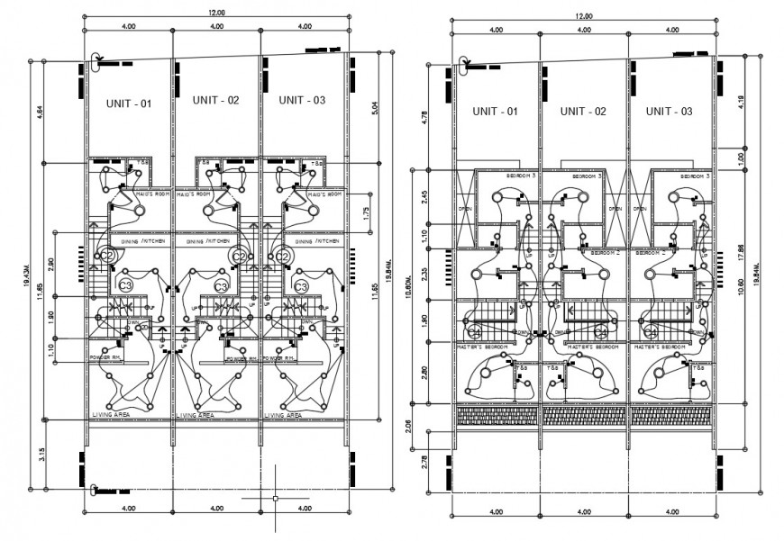 Electrical installation CAD drawings in building dwg file