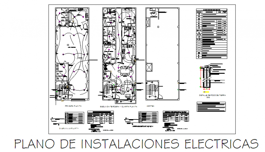 Electrical installation design drawing of multi familiary house-location design drawing