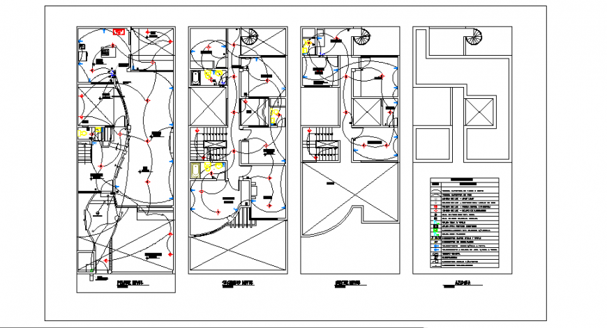 Electrical installation design drawing of small house drawing design