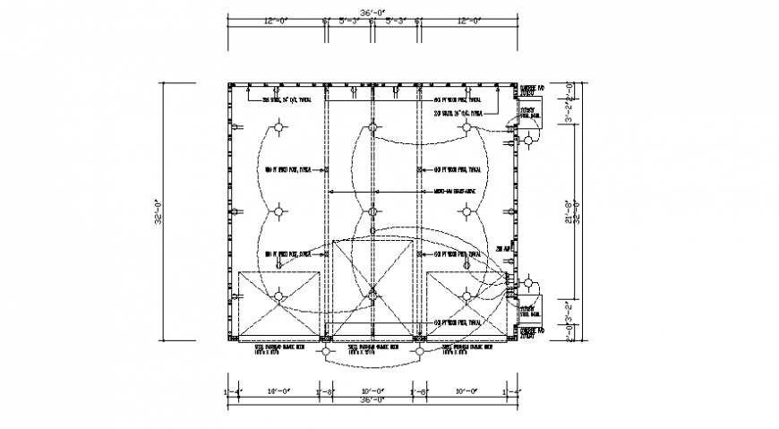 Electrical installation drawings 2d view of building autocad file