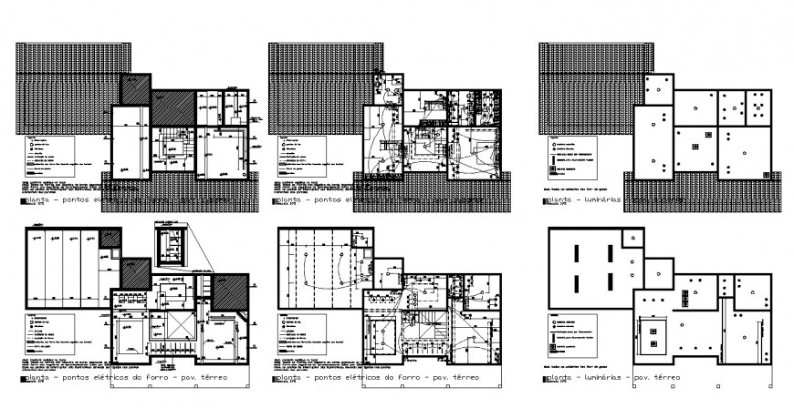 Electrical installation in a building 2d view CAD block layout file in dwg format