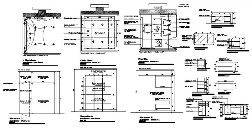 Electrical installation layout of office room 2d view drawing autocad file