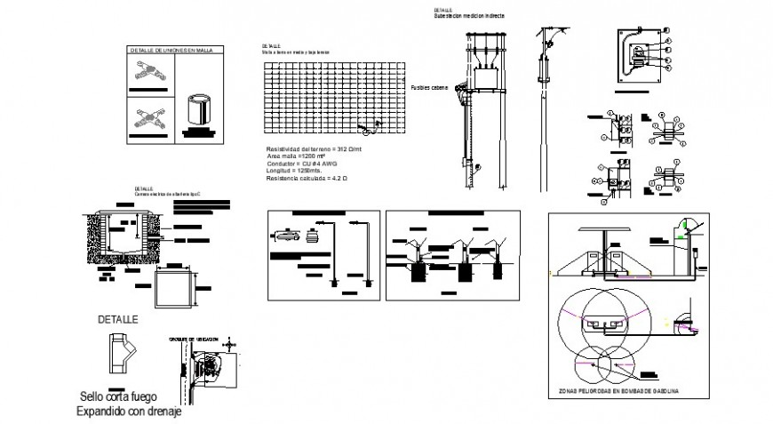 Electrical installation services details of petrol pump services dwg file