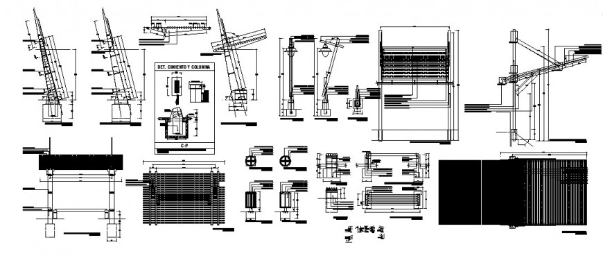 Electrical lamping details 2d view autocad software file
