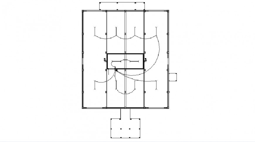 Electrical layout drawing details of office building dwg file
