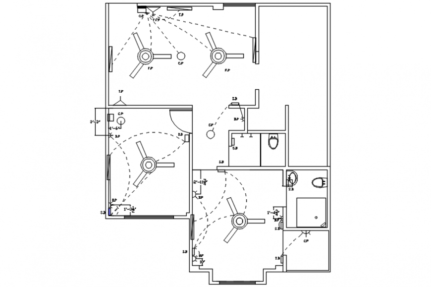 Electrical layout plan of a house,