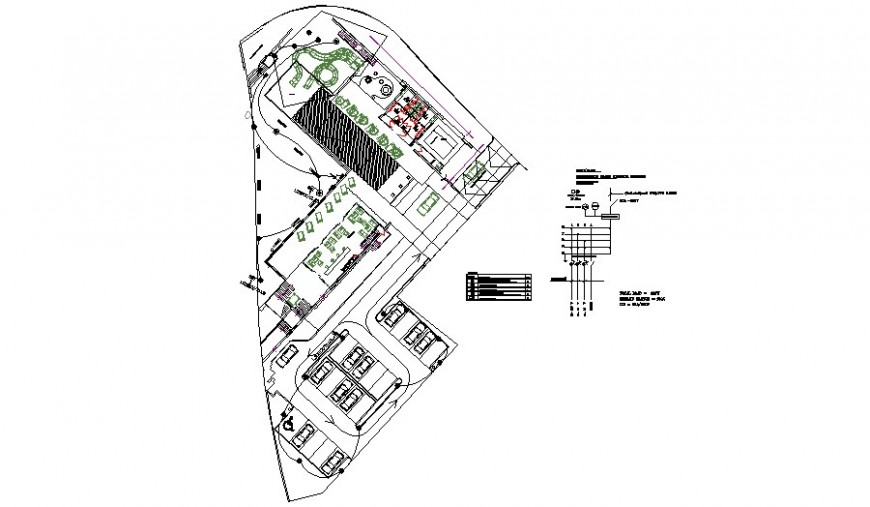 Electrical layout plan of the club house in detail drawing in AutoCAD file.