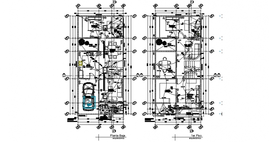 Electrical layout top view plan dwg file