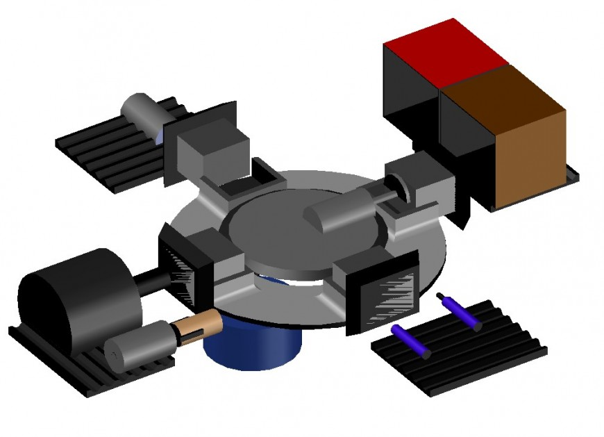 Electrical machine 3d assembly plan cad drawing details dwg file