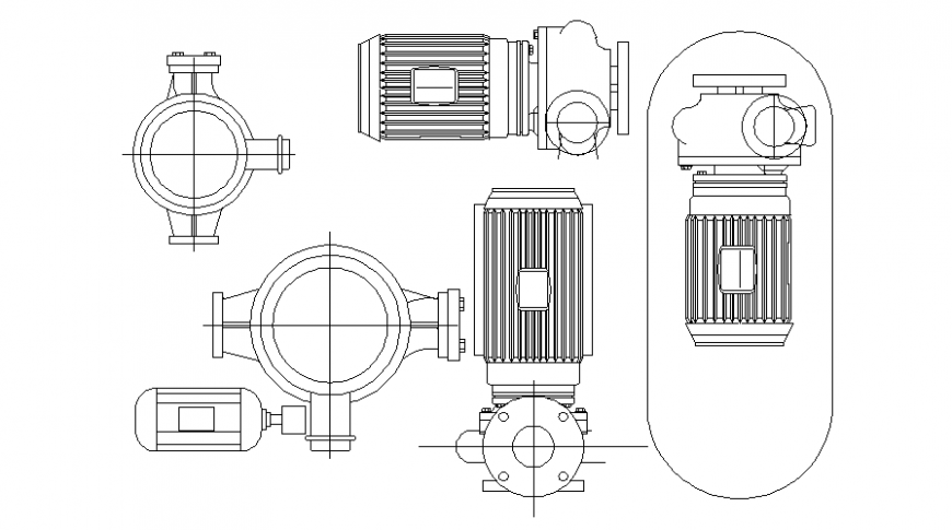 Electrical motor machinery blocks autocad software file