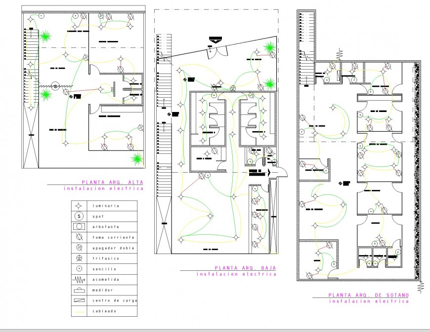 Electrical office plan detail autocad file