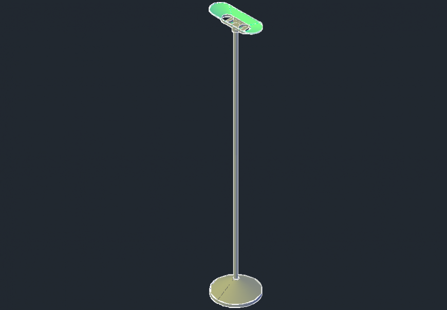 Electrical pole 3d model cad drawing details dwg file