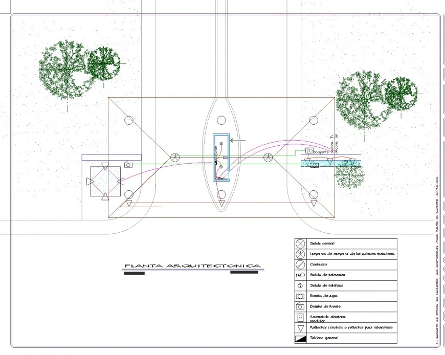 Electrical roof Gate plan layout file