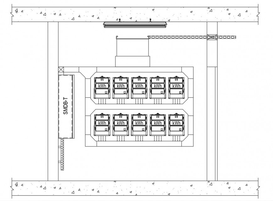 Electrical room detail cad file